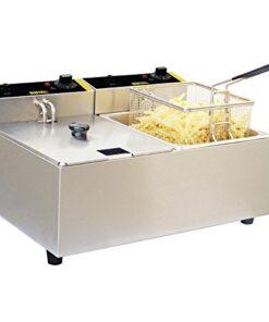 Buffalo Double Fryer 2X5 Ltr 300X540X400mm Catering Kitchen Restaurant