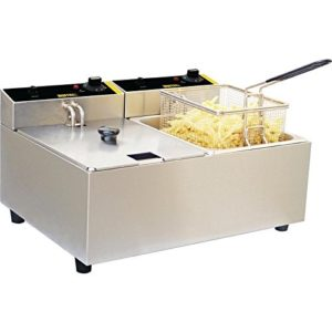 Buffalo Double Fryer 2X5 Ltr 300X540X400mm Catering Kitchen Restaurant