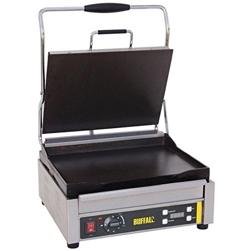 Buffalo Panini Grill Single Contact Grill Flat Plates Electric Restaurant